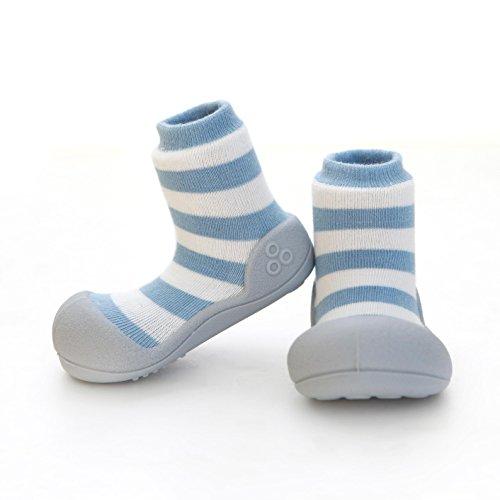 Attipas Natural Herb Blue - 20 Scarpe primi passi bambini Bambine e bambini, Anti-scivolo, ergonomica