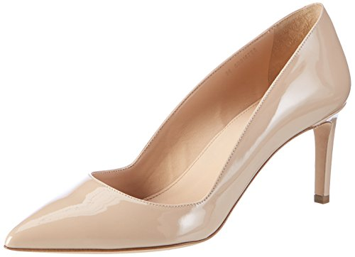 HUGO Damen Hellia-P Pumps, Beige (Light Beige), 37.5 EU
