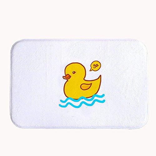 Rioengnakg Cute Rubber Duck weiß Badteppich Coral Fleece Bereich Teppich Fußmatte Eingang Teppich Fußmatten für Vorderseite Außen Türen Eintrag Teppich, Korallenvlies, 16