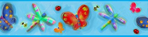 RoomMates - Wandsticker Schmetterlinge Bordüre 12,8 cm x 4,5 m
