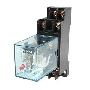 HH52P, relè di potenza elettromagnetico a 8 pin, CA, 24 V, bobina DPDT, con base DYF08A