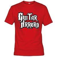 """Camiseta Guitar hero """"humor"""" Guitarrhrrero (Talla: Talla XL Unisex Ancho/Largo [58cm/76cm] Aprox], Color: Rojo) - Cosmética y perfumes - Comparador de precios"""