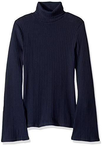 881bb4e6ad12 J.Crew Mercantile Women s Ribbed Flare Sleeve Turtleneck Sweater Shirt