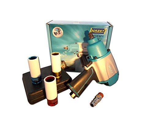 Preisvergleich Produktbild Hazet Schlagschrauber 9012 SPC + 3 Schlagschraubernüsse 17, 19, 21 Bundle - Paket 3
