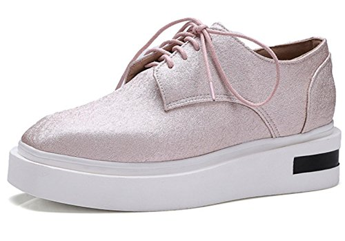 YCMDM Women Single Leisure Spring Summer Chaussures plates confortables Chaussures de grande taille Pink