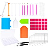 Whaline Diamond Painting Tools DIY Diamond Painting Accessories Cross Stitch Tool Kits with Diamond Embroidery Box for Adults or Kids(46 Pieces)