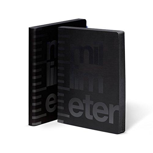 DIN A5 nuuna 53863/Inspiration Book/ Elastico di Chiusura blu Soft Cover 176/pagine di carta premium Jeans Label materiale /taccuino /Cloud Blue/