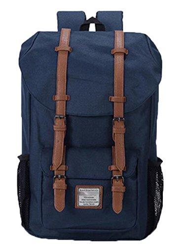 FZHLY Zaino Nuovo Drawstring Shoulder Bag Men Leisure Travel,Black Blue