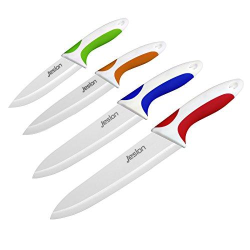 Jeslon Couteaux de Cuisine en céramique 4 pièces...