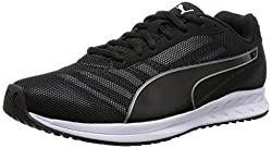 Puma Mens Burst Black and Asphalt Black Running Shoes - 11 UK/India (46 EU)