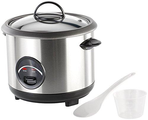 Rosenstein & Söhne Reis-Kochtopf: Edelstahl-Reiskocher 1 Liter (Elektrische Reiskochtöpfe)