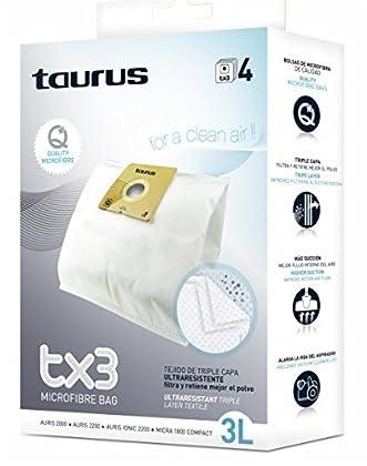 Taurus 999174000 Accesorio Bolsa Aspirador BO.Microfibra TX3 Papel 3L