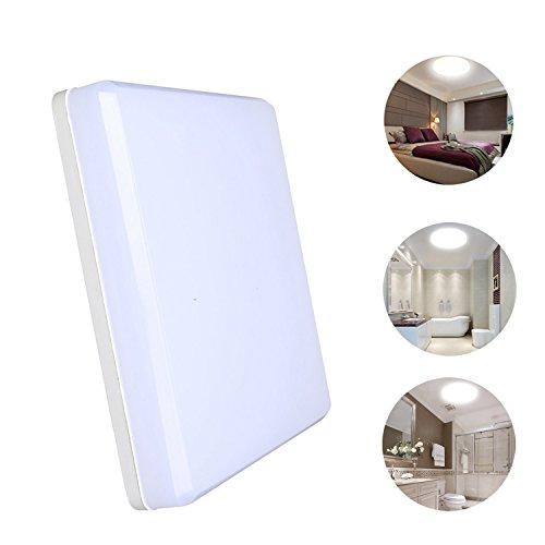 KWODE 15W LED Deckenleuchte, Kaltweiß 6000K Deckenlampe Deckenbeleuchtung, IP44 Rechteckig Badezimmerleuchte Badezimmerlampe Badlampe ideal für Badezimmer Balkon Flur Bad Küche