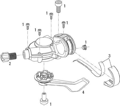 SRAM Ersatz, Schalthebel, links, SX-5 / X5, Abb. 4