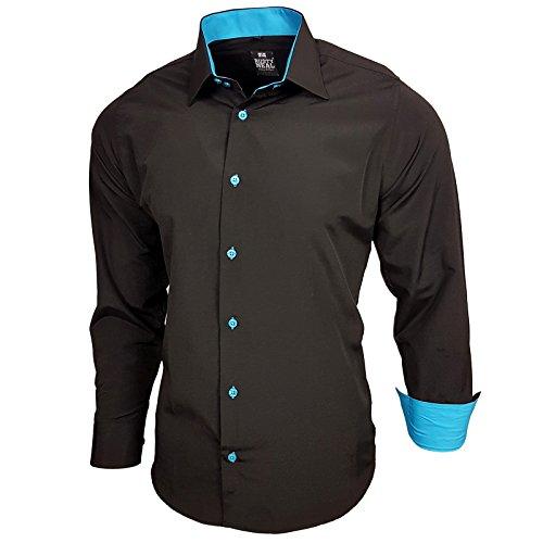 Baxboy Edel Dezent Schlicht Herren Hemd Herrenhemd Hemden Kontrast Langarm  B-44, Farbe  cac74497d7