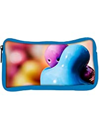 Snoogg Eco Friendly Canvas Hug Me Designer Student Pen Pencil Case Coin Purse Pouch Cosmetic Makeup Bag