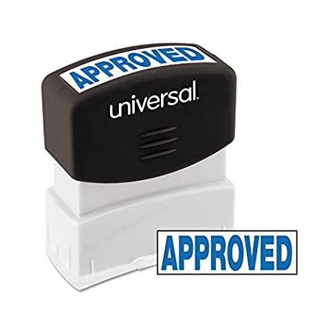 Message Stamp, APPROVED, Pre-Inked/Re-Inkable, Blue, Sold as 1 Each