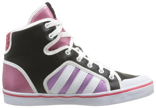 adidas Originals Honey Hoop W, Baskets mode femme Noir (Black/White/Pink S13)