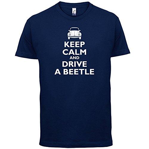 Keep Calm and Drive A Beetle - Herren T-Shirt - 13 Farben Navy