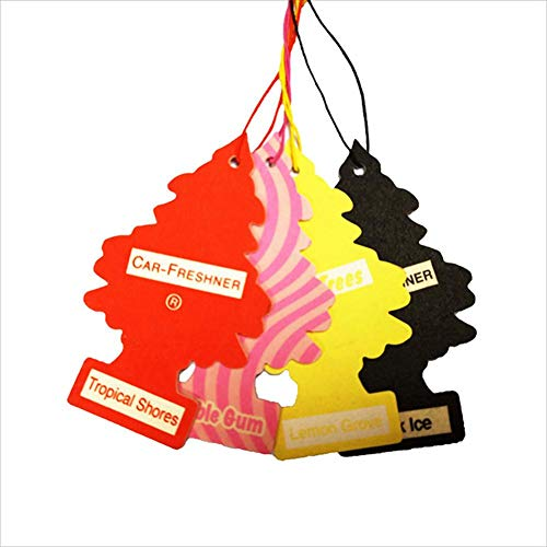Young® 5PCs Auto-Lufterfrischer, der Papierbaum-Pappe hängt, baumeln Bauchnabel-Ring-Bauchnabel-Piercing-Körperschmuck