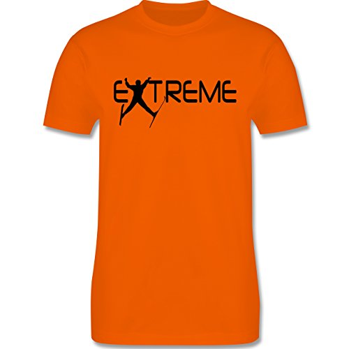 Wintersport - Ski Extreme - Herren Premium T-Shirt Orange