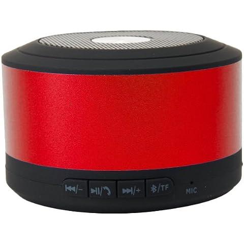 Emartbuy® Verizon Ellipsis 7 / Verizon Ellipsis 8 / Verizon Ellipsis 10 Tablet PC Rosso Altoparlante Bluetooth Compatto Super Bass Wireless