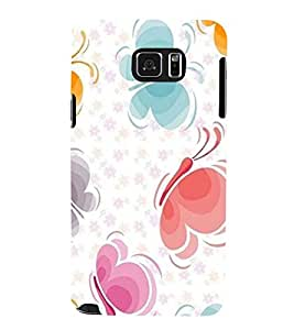 Takkloo colourful butterfly ( cute pattern, nice pattern, sweet pattern) Printed Designer Back Case Cover for Samsung Galaxy Note 5 :: Samsung Galaxy Note 5 N920G :: Samsung Galaxy Note5 N920T N920A N920I