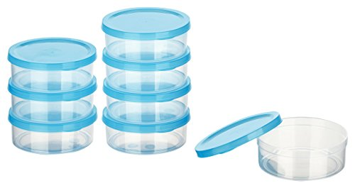 Kigima Mini-Tiefkühldose 0,2l rund 10x10x3,5cm 8er Set