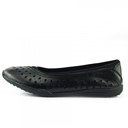 Donna Footwear pelle Kick scarpe Nero womens F80204 piatto Ballerine Leggero scarpe comode scarpe w6fdqSf5