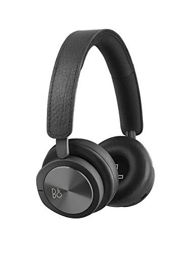 B&O PLAY 1108729  Kopfhörerbeutel aus Stoff Grau + H8i Bluetooth On-Ear Kopfhörer (drahtloser, Active Noise Cancellation, Transparenz-Modus und Mikrofon) schwarz - 2