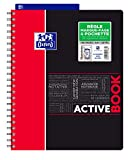 Oxford ActiveBook Cahier à Spirales Format A4+ 160 Pages Grands Carreaux Seyès...