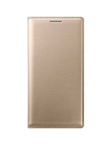 Fabson Leather Flip Cover for Micromax Canvas Evok Flip Cover Case - Gold