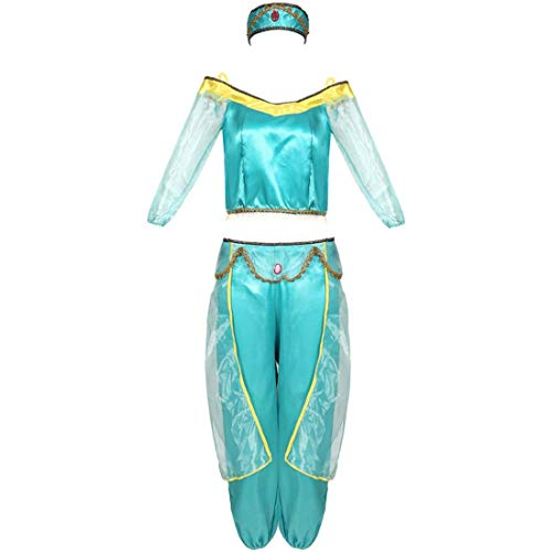 Jasmin Der Genie Kostüm - KLAWQ Emmas Wardrobe Schickes Prinzessin Jasmin