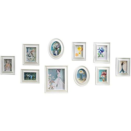 Foto Wandrahmen Kleine und schöne kreative Bilderrahmen Kombination-10 Stück / Frame Wall Set. Schlafzimmer Bett Kopf Wand Bilderrahmen Hintergrund Bilderrahmen Wand Modisches Design (Bett Frame-set)