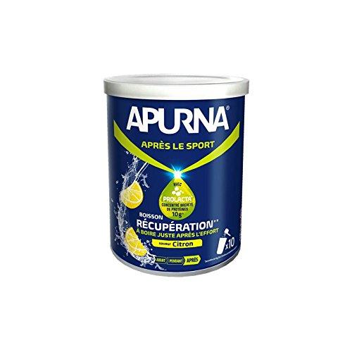 APURNA Boisson de récupération en poudre citron - Boîte de 400g