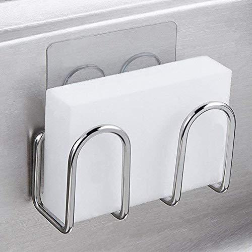 Spüle Schwammhalter Metall Edelstahl Wäscher Seife Wäscheständer Faser Scheuerschwamm Abtropffläche Küchenzubehör Veranstalter