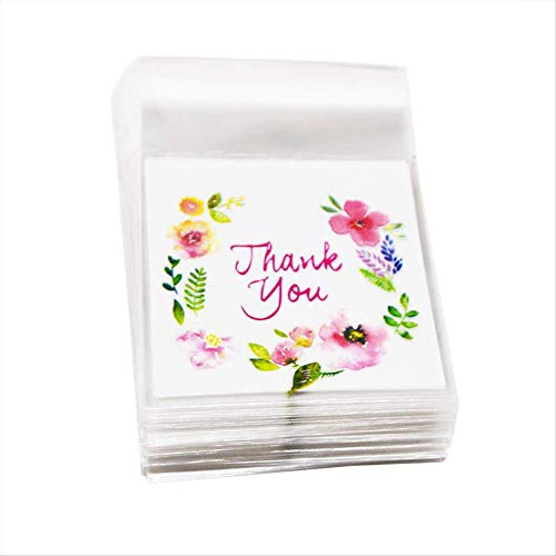 erz-Blumen-Zellophantaschen-Hochzeits-Geschenk-Beutel-Selbstklebender Plastikbeutel-Backen-Paket-Ereignis-Partei 100P Bb455 ()