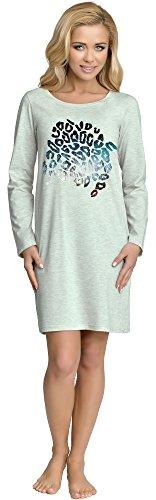Merry style camicia da notte donna 890 (grigio, l)