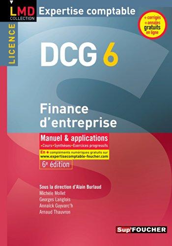 DCG 6 - Finance d'entreprise - Manuel et applications - 6e édition