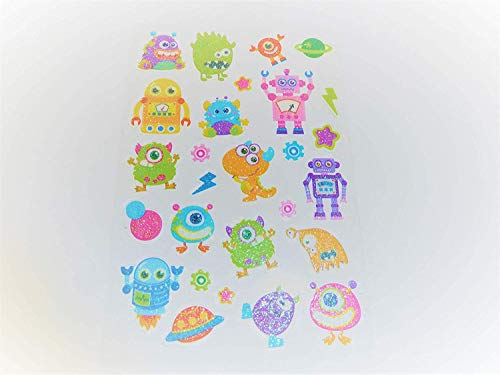 Minilabel Spaceship , Rocket & Alien Stickers - Kids / Childrens Labels For Party Bags , Scrap Books , Card Making Or Notebook Decoration by Minilabel