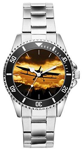 Stewardess Pilot (Geschenk für Piloten Stewardess Hobby Flieger Uhr 20022)