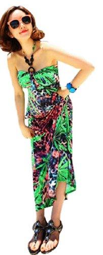 QIYUN–Vestito per donna Marrone
