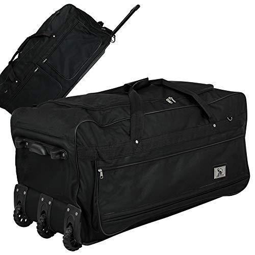 XXXL Trolleytasche - Koffer - Reisetasche - Trolley - Trolleytasche 182L schwarz