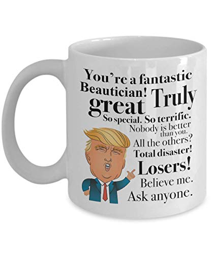 Donald Trump Mug for Barber Hair Stylist Cosmetologist Cutter Shaver Beautician Appreciation President Conservative Republicans 11 Oz