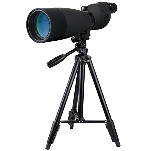 Svbony SV17 Telescopio Terrestre 25-75x70 mm SE FMC Bak-4 Óptica Impermeable Zoom HD Telescopio Monocular con Fotografía Trípode (Negro)