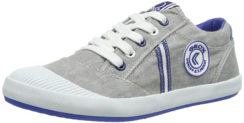 Geox J Kiwi B. J, Baskets mode garçon Gris (Grey)