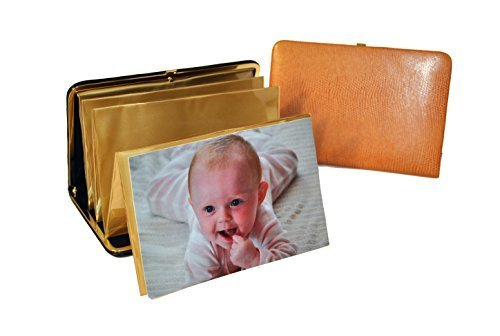 budd-leather-lizard-print-portable-framed-photo-case-4-by-6-inch-golden-tan-by-budd-leather