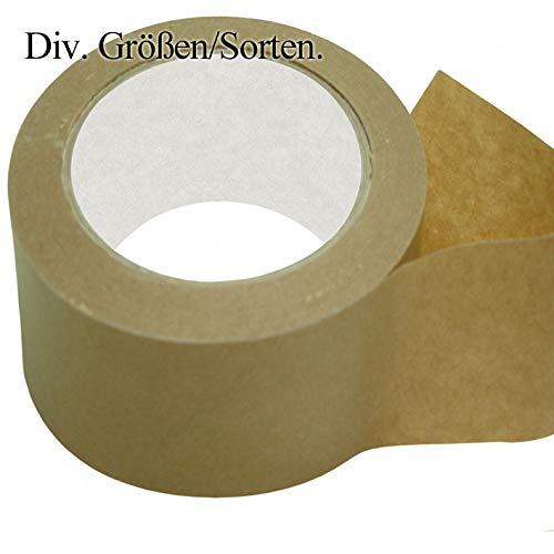 4 Rollen Papierklebeband. (50mm x 50 lfm) Klebeband. Paketband. Packband. Paketklebeband. Papier-klebeband.