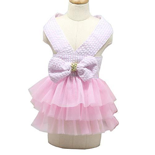 lität Hochzeit Hund Kleid Für Hund Kleidung Prinzessin Luxus Rock Kleine Katze Kleider Frühling Sommer Lustige Haustier Kleidung L rosa ()