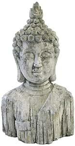KERSTEN ornement de bouddha en ciment dimensions :  14 x 10,5 x 26,5 cm (gris)